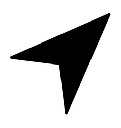 gps navigation arrow icon vector image