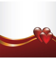 Abstract backgroun with hearts vector image