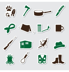 Simple backwoodsman stickers set eps10 vector