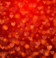 St valentines day abstract background with hearts vector