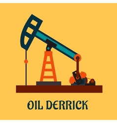 Flat oil derrick or pump jack vector
