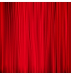 Red curtain on theater eps 10 vector