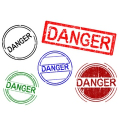 Office stamps danger vector