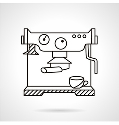 Coffee machine stylish line icon vector