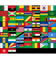 Set of flags of african countries flags of africa vector
