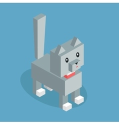 Pets Cat Icon Isometric 3d Design vector image