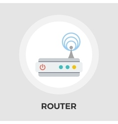 Router flat icon vector image
