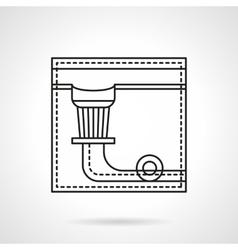Billiard pocket flat line icon vector