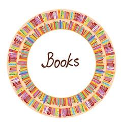 Book frame circle design vector image