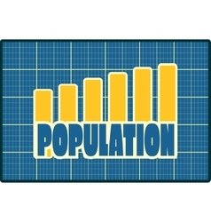 Chart diagram symbolized by population growth vector