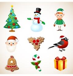 Christmas symbol set vector image vector image