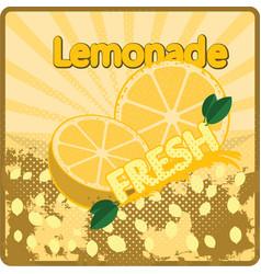 Colorful vintage lemonade fresh label poster vector