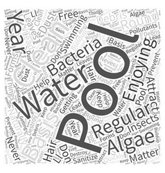Enjoying your pool year round word cloud concept vector