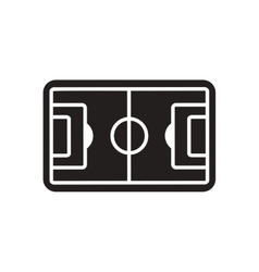 Flat icon in black and white football field vector