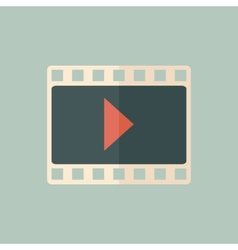 Flat video icon vector