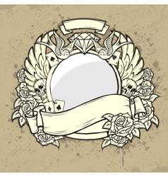 Grunge Label with Space for text vector image vector image