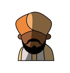 indian ethic man cartoon vector image
