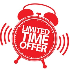Limited time offer red label vector