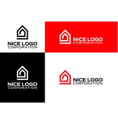 Logo house and real estate vector