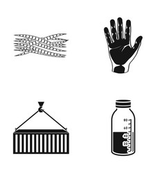 Muscle fiber wrist and other web icon in black vector