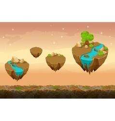 Night prairie game landscape unending background vector