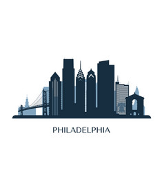 Philadelphia skyline monochrome color vector