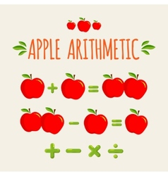 Red apple arithmetic vector