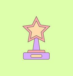 Reward in flat style cinema vector