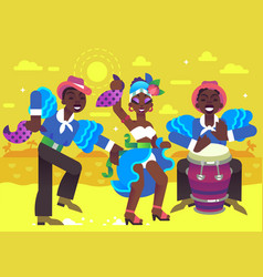 Rumba dancers vector