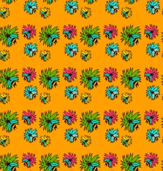 Seamless pattern with bee - 2 vector