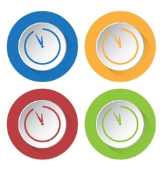 set of four icons with clock vector image