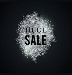 Silver-huge-sale-spot vector