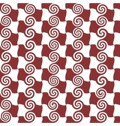 Square and spiral seamless pattern vector image
