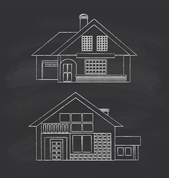 Summer houses vector