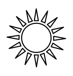 Sun ecology symbol icon vector