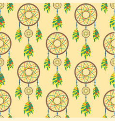 tribal decoration bohemian dreamcatcher boho vector image vector image