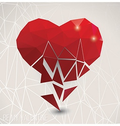 Valentine s day card geometric triangle pattern vector image vector image