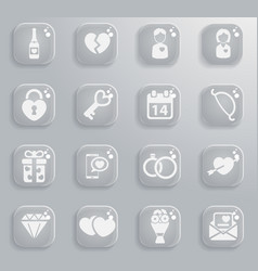 Valentines day simply icons vector