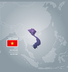 vietnam information map vector image
