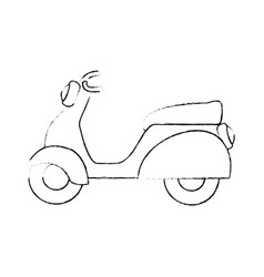 Vintage motorcycle icon vector