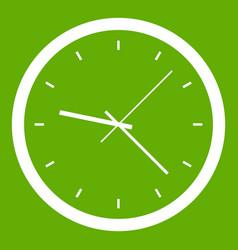 wall clock icon green vector image