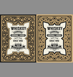 whiskey label design vector image vector image