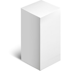 White package square cardboard package box vector