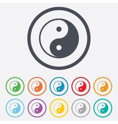 Ying yang sign icon harmony and balance symbol vector