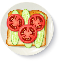 Healthy breakfast appetizing top view image vector