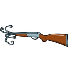 shotgun barrel with a torn vector image