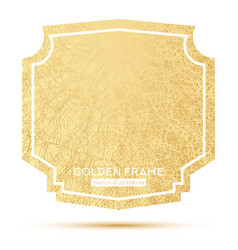 Golden frame with copy space isolated on white vector