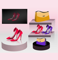 Store of shoes vector