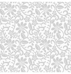 floral seamless pattern with gray lace vector image
