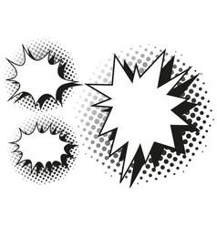 Blash splash template in three designs vector